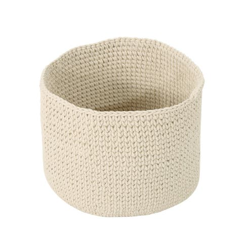 Derry Knitten Cotton Sundries Basket by Christopher Knight Home