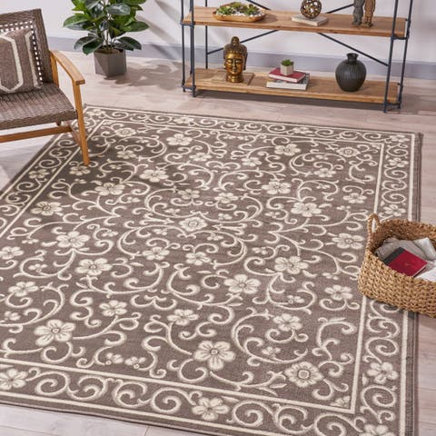 Cowen Traditional Vintage Floral Indoor Rug by Christopher Knight Home