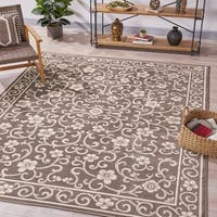 Cowen Traditional Vintage Floral Indoor Rug by Christopher Knight Home - 7'10 x 10'