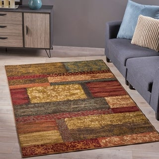 Saunders Geometric Floral Indoor Rug by Christopher Knight Home - 7'10 x 10'