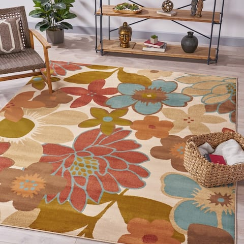 Frido Floral Indoor Rug by Christopher Knight Home
