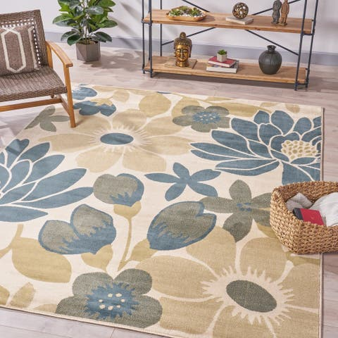 Reagan Floral Indoor Rug by Christopher Knight Home