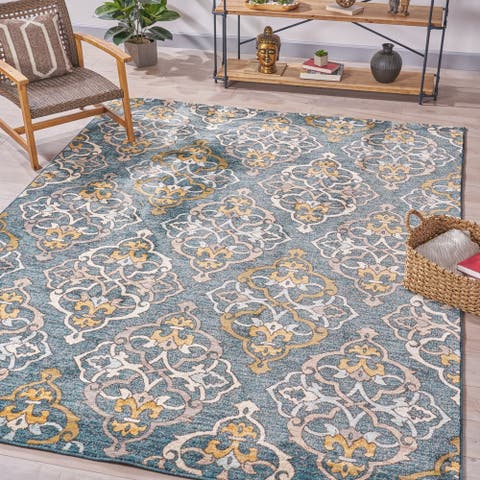 Hayne Floral Indoor Rug by Christopher Knight Home
