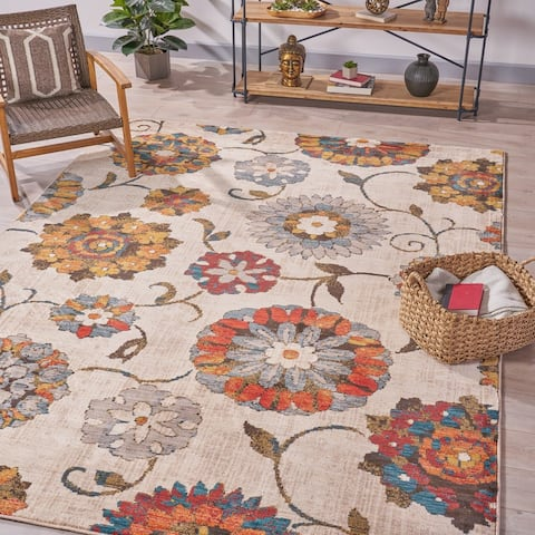 Gilbert Floral Indoor Rug by Christopher Knight Home