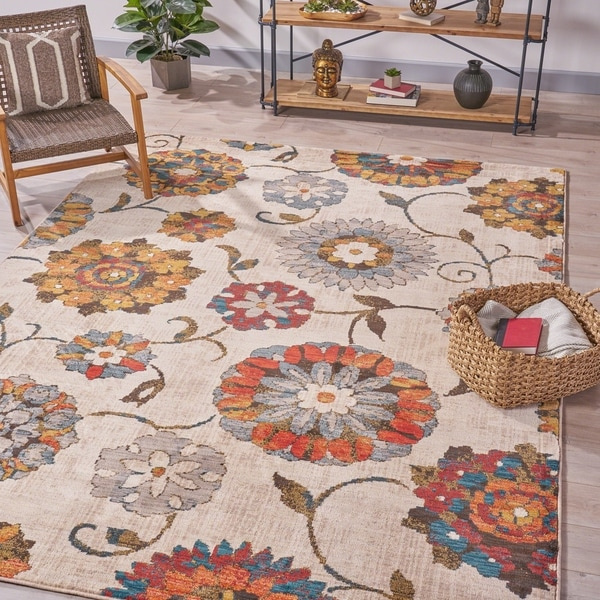 Gilbert Floral Indoor Rug by Christopher Knight Home. Opens flyout.
