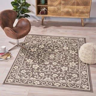 Cowen Traditional Vintage Floral Indoor Rug by Christopher Knight Home - 5'3 X 7'
