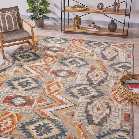 Hoffman Abstract Geometric Indoor Rug by Christopher Knight Home