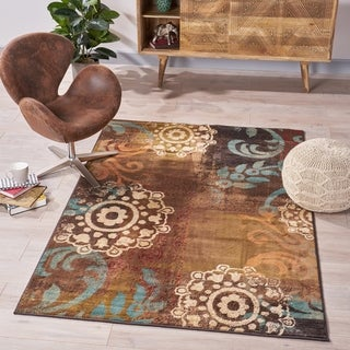 Hallbrook Abstract Indoor Rug by Christopher Knight Home - 5'3 x 7'6