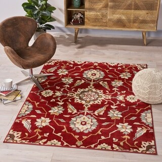 Turner Traditional Vintage Floral Indoor Rug by Christopher Knight Home - 5'3 X 7'