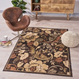 Emerson Floral Indoor Rug by Christopher Knight Home - 5'3 x 7'6