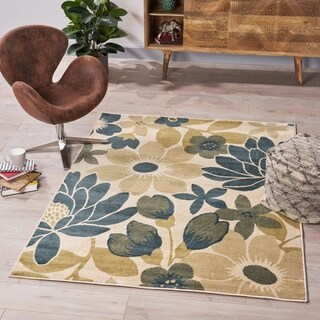 Reagan Floral Indoor Rug by Christopher Knight Home - 5'3 x 7'