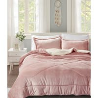 Sherpa Flannel Comforter Set