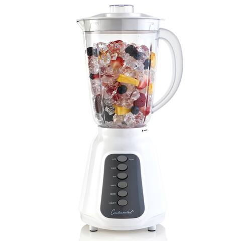 Continental Electric 5-Speed Blender 48 Ounce White