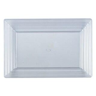 "Kaya Collection - Plastic Serving Tray Heavyweight Rectangular Platter 11""X16"" Disposable or Reusable"