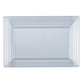 "Kaya Collection - Plastic Serving Tray Heavyweight Rectangular Platter 9""X13"" Disposable or Reusable"