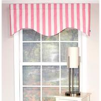 RLF Home Canopy Stripe Cornice Window Valance - Pink