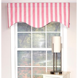 cornice window treatments white rlf home canopy stripe cornice window valance pink buy valances online at overstockcom our best