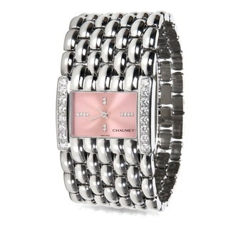 Pre-Owned Chaumet Khesis 42KB Women's Quartz Watch in Stainless Steel
