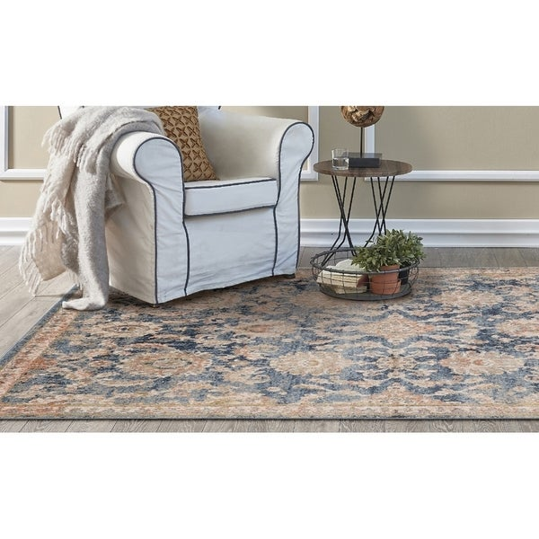 KAS Manor Denim Distressed Chester Rug