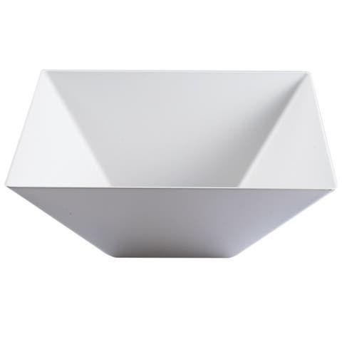 Plastic Square Serving Bowls 128oz - Disposable or Reusable - For Party's and Weddings