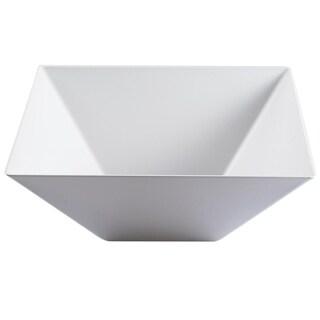 Kaya Collection - Plastic Square Serving Bowls 128oz - Disposable or Reusable