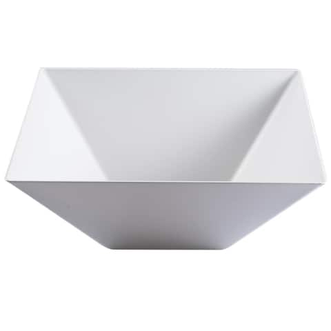 Plastic Square Serving Bowls 96oz - Disposable or Reusable - For Party's and Weddings