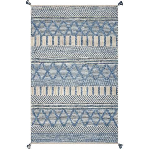 Hang Ten Malibu Denim Santa Cruz Hand-woven Rug