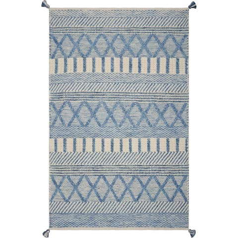 Hang Ten Malibu Denim Santa Cruz Hand-woven Rug