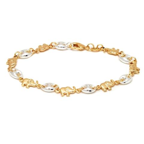 Gold Plated Elephant Anklet