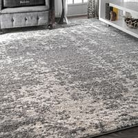 Porch & Den Grey Williamsburg Seigel Granite Mist Shades Area Rug - 9' x 12'