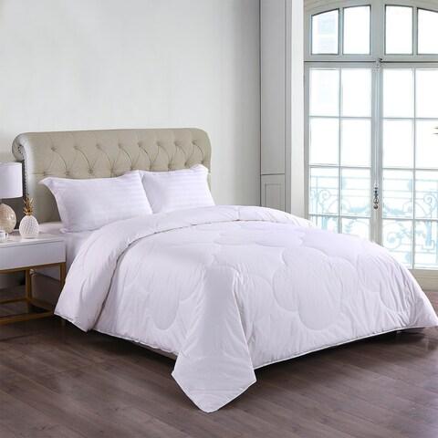 Cottonloft Soft Medium Warmth Cloud Stitch All Natural Breathable Hypoallergenic Cotton Comforter