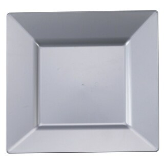Kaya Collection - Large Plastic Square Dinner Plates - Disposable or Reusable
