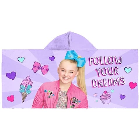 Nickelodeon Jojo Siwa Follow Your Dreams Hooded Towel