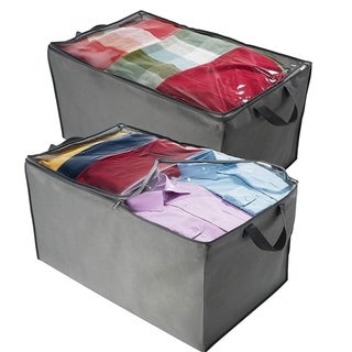 Set Of 2 Jumbo Blanket Storage Bags For Comforter, Blanket, Linens Etc