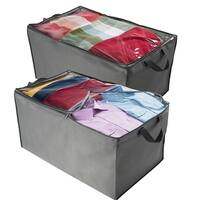 Jumbo Storage Bag, Breathable Blanket, Clothes Storage Bag For Comforter, And Quilts, With Clear Viewing Top And Sturdy Zipper