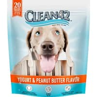 Clean 42 Yogurt and Peanut Butter Dental Treats for Dogs