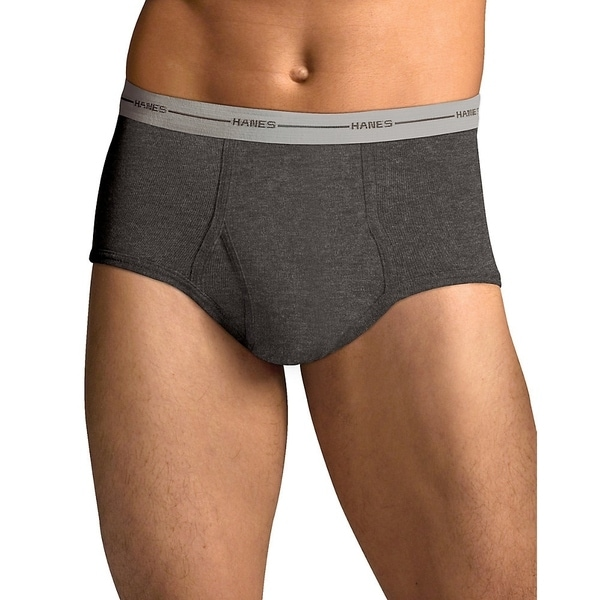 Hanes Mens TAGLESS ComfortSoft Full Rise Dyed Brief with CFlW 6PK (7822P6)
