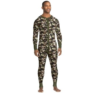 Hanes mens Organic Cotton Camo Thermal Union Suit (14630)