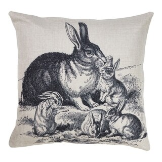 Down Filled Rabbits Throw Pillow