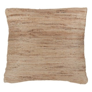 Woven Jute Down Filled Throw Pillow