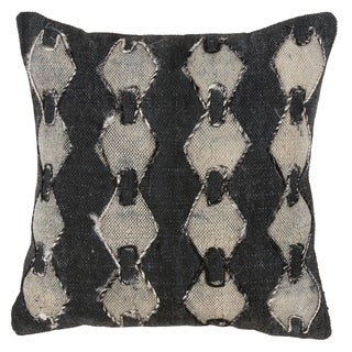 Modern Geometric Diamond Design Down Filled Cotton Throw Pillow