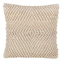 Knotted Design Down Filled Cotton Throw Pillow