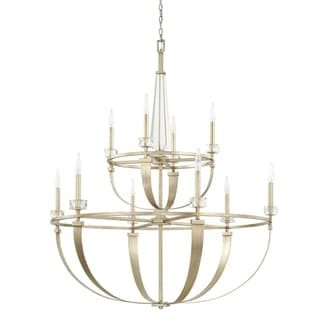 Link to Karina 10-light Winter Gold Chandelier Similar Items in Chandeliers