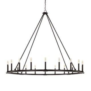 Capital Pearson 20-light Black Iron Chandelier - Black Iron
