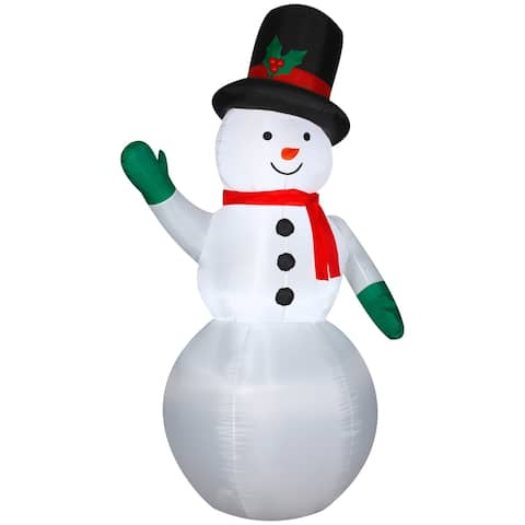 Christmas Airblown Inflatables Snowman w/Christmas Top Hat