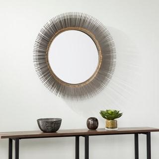 Stolla Decorative Starburst Mirror - Gunmetal gray