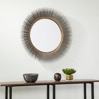 Harper Blvd Stolla Decorative Starburst Mirror - forged gold/gunmetal gray
