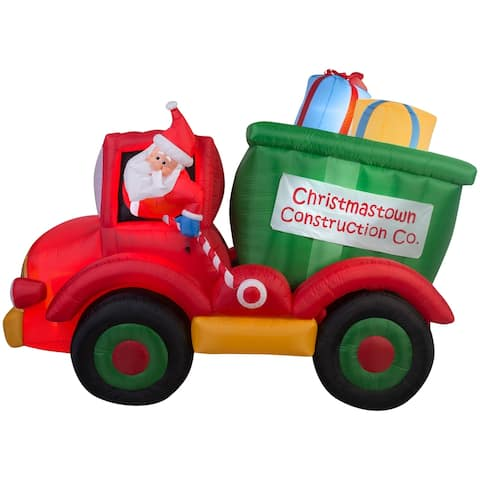 Christmas Airblown Inflatables Animated Dump Truck w/Presents