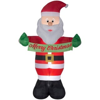 "Link to Christmas Airblown Inflatables Animated Airblown Santa w/Banner ""Merry Christmas"" Similar Items in Christmas Decorations"