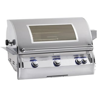 Echelon Stainless Steel Built-in Natural Gas Cast Iron Grill with Magic Window